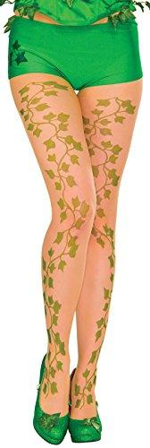 Secret Wishes Women's DC Comics Poison Ivy Panty Hose, Multi, One (Poison Ivy Group Costume)