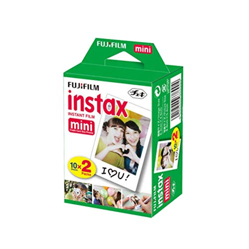 (Fujifilm INSTAX Mini Instant Film 2 Pack = 20 Sheets (White) for Fujifilm Mini 8 & Mini 9 Cameras)