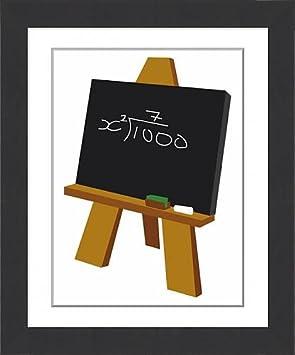 Impresión enmarcada de Digital Cartoon ilustración de matemáticas ...