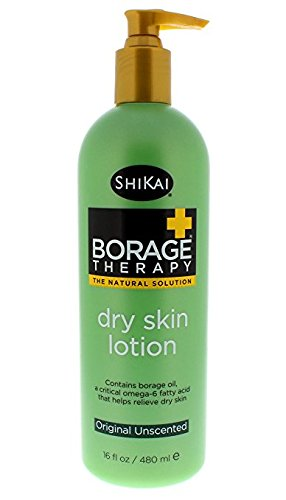 - ShiKai - Borage Therapy Dry Skin Lotion, Plant-Based Soothing & Moisturizing Relief For Dry, Irritated & Itchy Skin, Non-Greasy, Sensitive Skin Friendly (Original Unscented, 16 Ounces)
