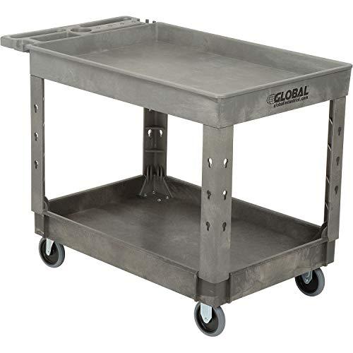 Plastic 2 Tray Shelf Service & Utility Cart, 44