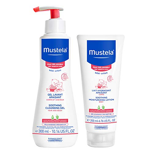 Mustela Bathtime Gift Set, Baby Skin Care Available for Normal, Dry, Sensitive, and Eczema Prone Skin (Best Baby Wash For Dry Skin)