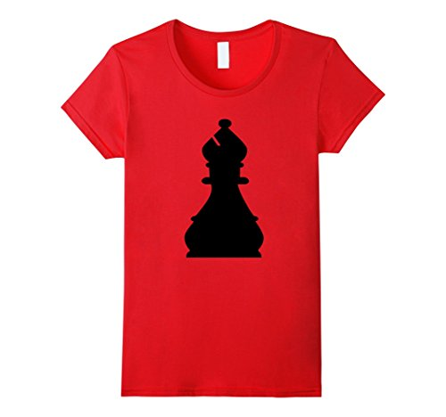 Womens Chess Piece Group Costume Shirt - BISHOP (black) XL Red - Red Chess Queen Costume