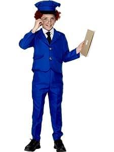 Smiffy's - Disfraz infantil de Pat el cartero, color azul