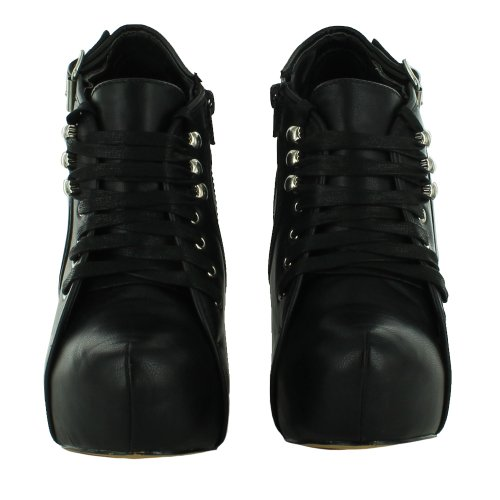 Del Para La Onlineshoe Zapatos Tacón Talón Monedero Ocultos Plataforma De Alto Pu Negro Estilete Mujer Señoras qxttUrX