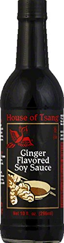 House of Tsang Soy Sauce, Ginger Flavored, 10 Ounce (Pack of 6)