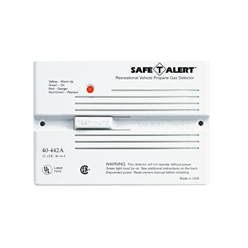 MTI Industries 40-442-P-WT Safe T Alert 40 Series Professional Propane/LP Gas Alarm - Flush Mount, White by MTI (Image #1)