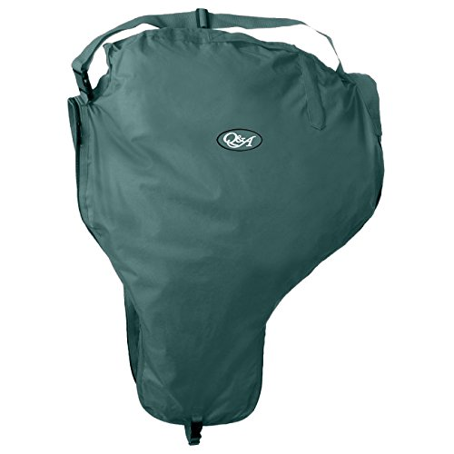 Q&A SUPPLY Nylon Western Saddle Carrier/Saddle Carrying Case in Hunter Green