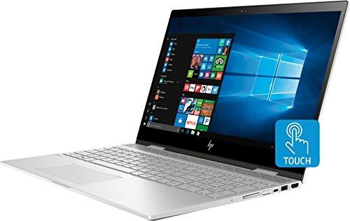 "HP Envy 2019 x360 2-in-1 15.6"" FHD Touchscreen Laptop Computer, 8th Gen Intel Quad-Core i5-8250U, 16GB RAM, 256GB PCIe SSD, Fingerprint Reader, Backlit KB, Windows 10, Silver w/ HESVAP Accessories"