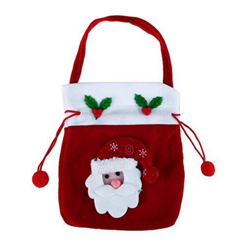 s Embroidered Gift Handbag Candy Drawstring Bags Santa Sack Christmas Decor(Santa Claus) ()
