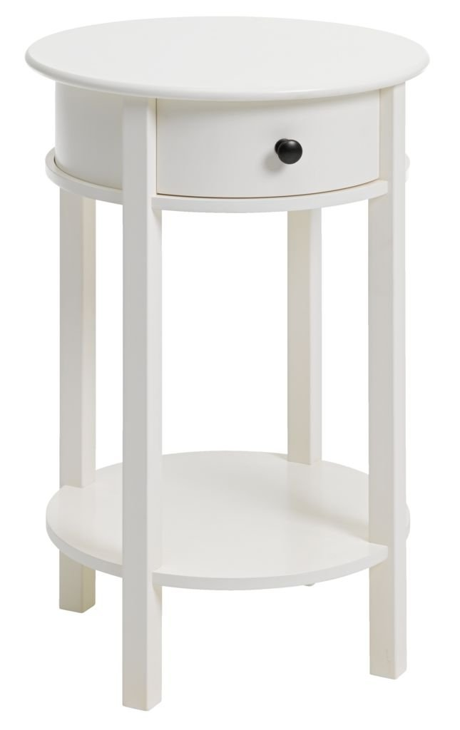 White Round Bedside Table Round Designs - White round bedside table