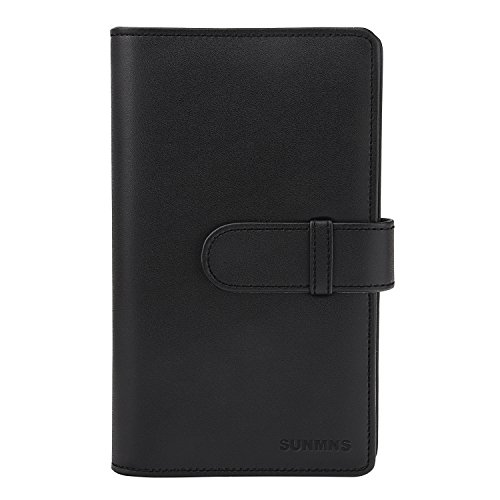 Sunmns Wallet PU Leather Photo Album for Fujifilm Instax Mini Instant Film (Black)