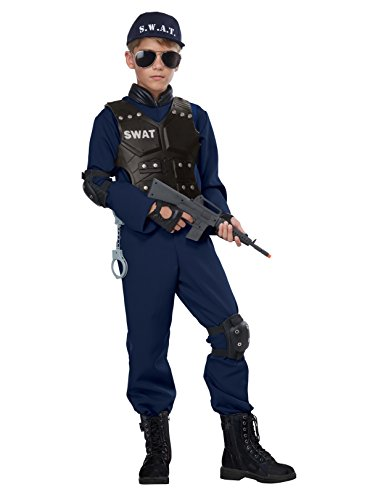 Junior Swat - Child Costume Navy