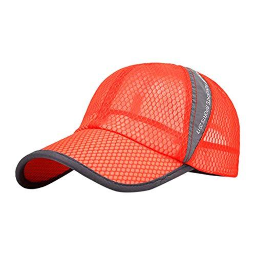 (Outdoor Mesh Cap  Fashion Unisex Lightweight Breathable Quick Dry Mesh Baseball Cap Hiking Sun Hat Visor Cap)