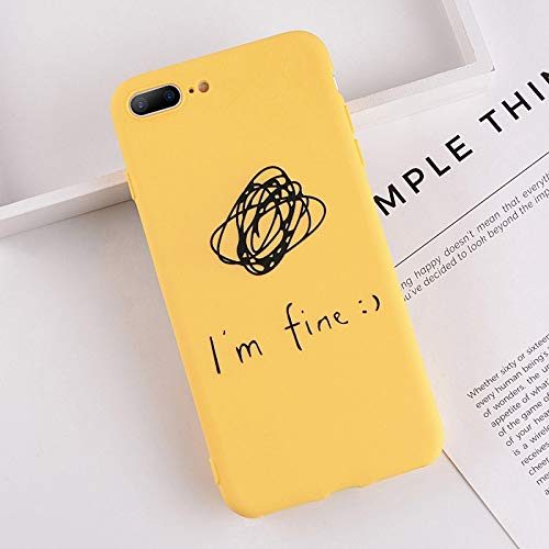 Amazon.com: Lovebay Phone Case for iPhone 6 6s 7 8 Plus X XR XS Max Cute Cartoon Letter Deer Smiley Face Soft TPU for iPhone 5 5S SE Cover - LENALE (T9, ...