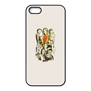 Durable Hard cover Customized TPU case Tarantino Characters iPhone 5 5s Cell Phone Case Black