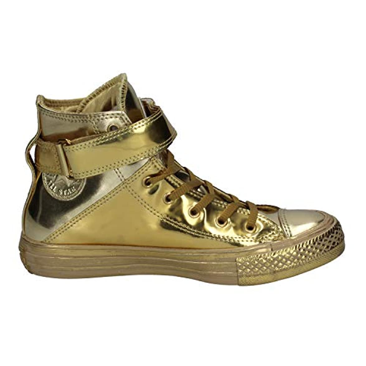 Women's Converse Chuck Taylor All Star 'brea - Metallic' High Top Sneaker Size 5 5 Metallic