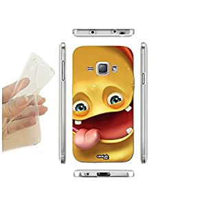 FUNDA CARCASA SLIM JINGLE SMILE PARA SAMSUNG GALAXY J1 SM-J100H TPU
