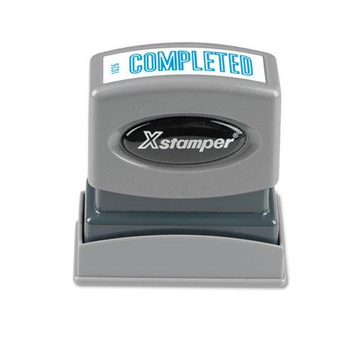 (Xstamper 1026 Completed Pre Inked Laser Engraved Rubber Stamp, Blue Ink, Impression Size: 1/2