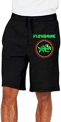 FISHBONE Band ハーフパンツ メンズ ショートパンツ フィットネス トレーニングウェア 吸汗速乾