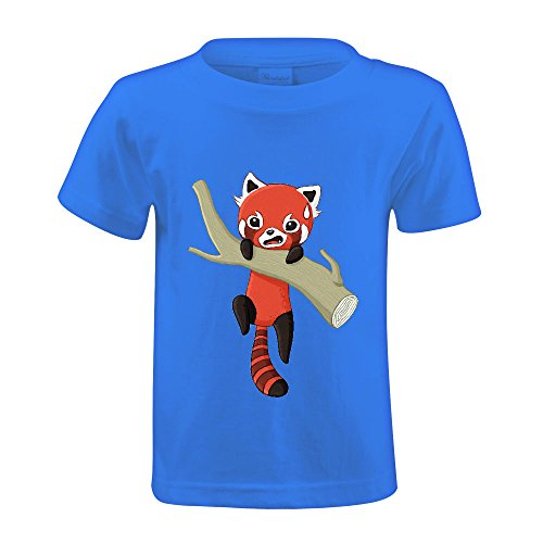 snowl-red-panda-youth-crew-neck-short-sleeve-t-shirt-blue
