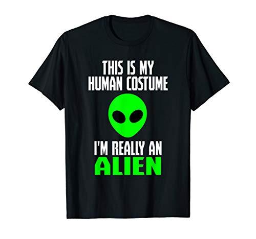 Human Costume Alien Funny Sci Fi Halloween Gift T-Shirt -