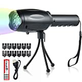 LED Projector Flashlight,Rechargeable Handheld Projector Lights with 8 Music 12 Slide Cards &Tripod,Portable Projector Torch Flashlight Light Show for Halloween/Christmas/Easter/Birthday Party