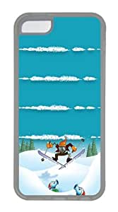 iPhone 5C Case and Cover - Snow Zombies Ski Custom PC Case Cover For iPhone 5C - Tranparent