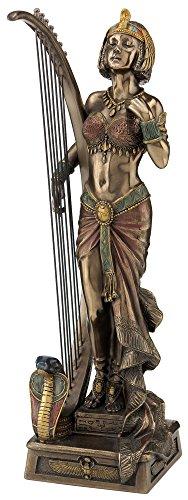 Art Deco Cleopatra with Egyptian Harp Statue - Egyptian Harp
