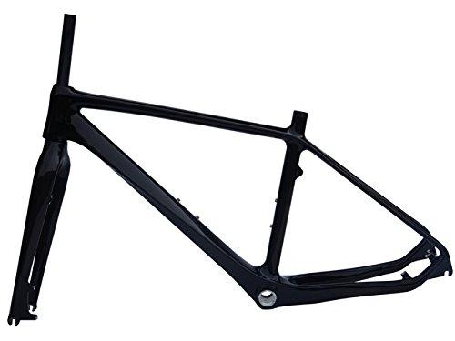 3K Carbon Glossy MTB Mountain Bike Frame (for BSA) 18' + Fork