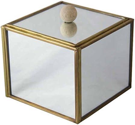 Better & Best Caja Espejo Dorada, Grande, con Bola de Madera ...