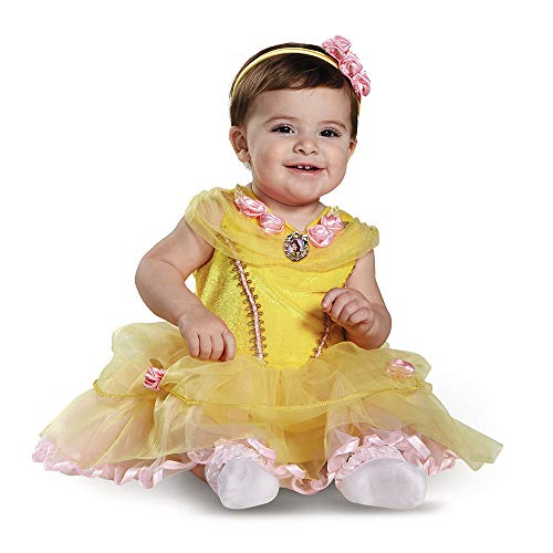 Disguise Baby Girls' Belle Infant Costume, Yellow, ((12-18 mths)