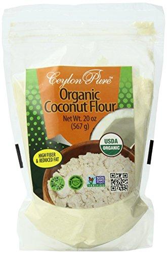 Ceylon Pure Organic Coconut Flour, 20 Ounce