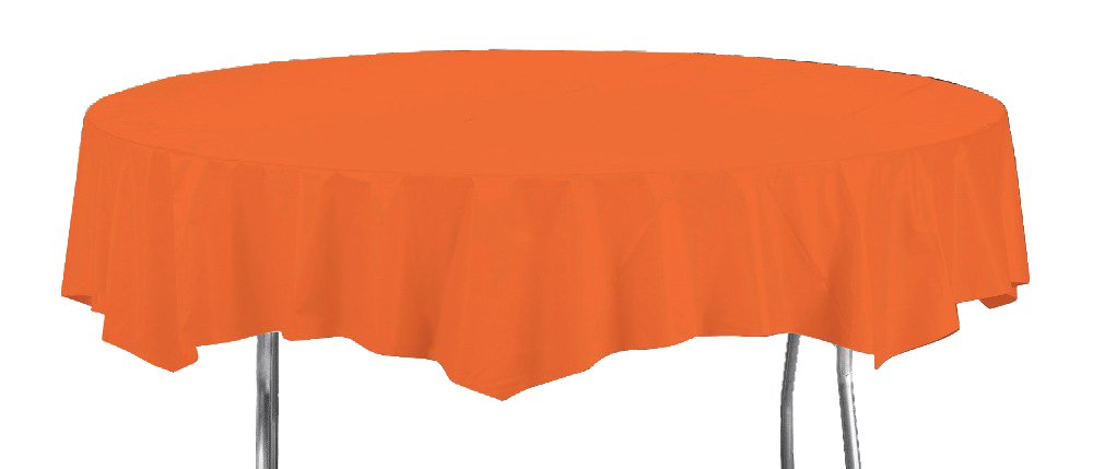 Creative Converting Octy-Round Paper Table Cover, 82-Inch, Bittersweet