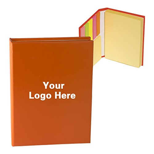 Promotional Sticky Notes/Books/Bookmark Stickers/Memo Flags with Self Sticky Pads in 3 Sizes - Pack of 100-$2.43 Each -Promotional Product Bulk Custom Branded with YOUR LOGO Free/C2BPromo #C2BONB065