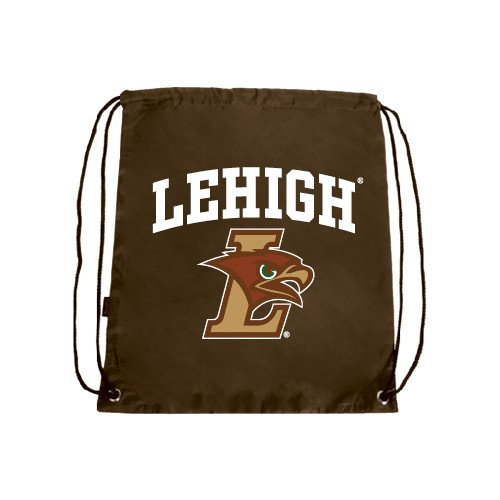 CollegeFanGear Lehigh Brown Drawstring Backpack 'Official Logo'