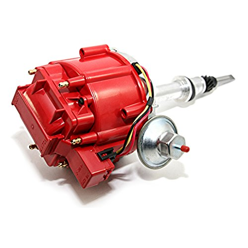 Assault Racing Products 1029211 Chevy Inline 6 Cylinder Red Ready to Run One Wire HEI Distributor 250 292