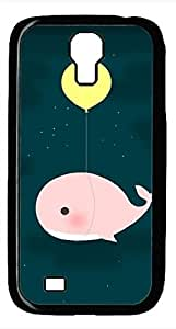Samsung Galaxy S4 I9500 Black Hard Case - Balloons And Whales Galaxy S4 Cases