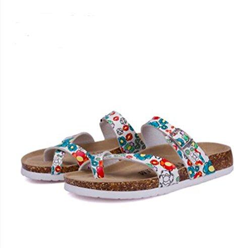 SUKULIS Fashion Cork Sandals Casual Women Mixed Color Flip Flops Valentine Shoes Zapatos Mujer Sandalias 24 4 by SUKULIS