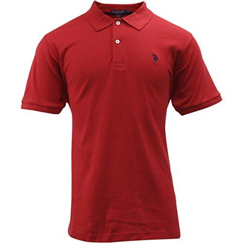 us-polo-association-short-sleeve-engine-red-cotton-interlock-polo-shirt-sz-l