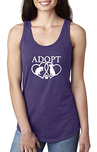 Adopt Animal Rescue Gifts Pets Dogs Women's Racerback Tank Top (LPR)