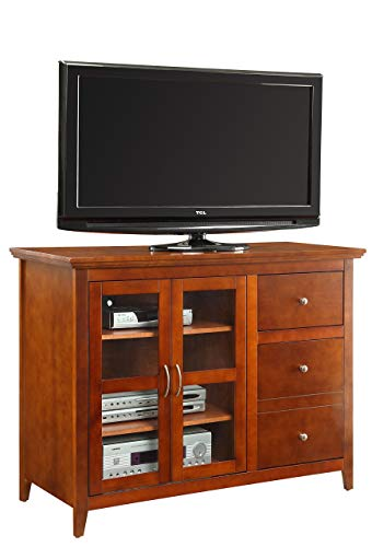 Convenience Concepts Designs2Go Sierra Highboy TV Stand for Flat Panel TV's Up to 50-Inch or 100-Pounds, - Entertainment Cherry Cabinet Newport