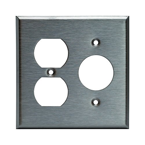 Plate Outlet Wall Single (Enerlites 772151 Combination Wall Plate (Duplex Outlet/Single Receptacle 1.406
