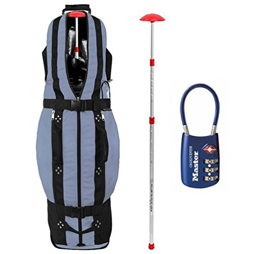 Club Glove Last Bag Collegiate Golf Travel Cover w/ Free Stiff Arm (Wheeled Golf Bag Travel Cover)
