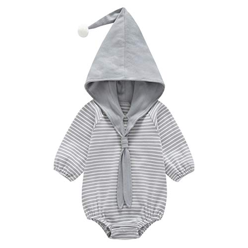 Dolphin House Unisex Baby Long Sleeve Bodysuits, Baby Girls and Boys Onesies Bodysuits,Baby Clothes Outfits(Gray,0-3 Month)