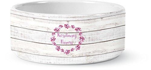 Farm House Pet Bowl - Large (Personalized) (Personalized Ceramic Dog Bowls)