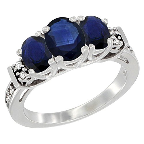 Diamond Accent 3 Stone Ring - 4