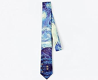Men African Girl Blow Bubbles Printing Casual Tie Necktie