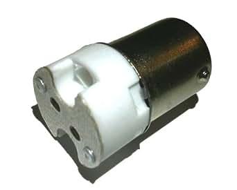 BA15S, Single Contact Bayonet Base to G4 Socket Adapter for LED - Set of 5