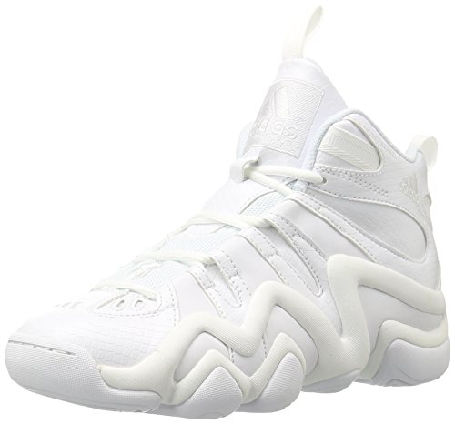 adidas Men's Crazy 8 Basketball Shoe, White, 10.5 M US